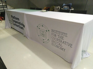 Institute for the Cooperative Digital Economy at the Platform Coops conference 2019, New School NY