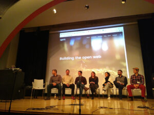 Lisa Pointner in a Town Hall on Cooperation: Best Practices at the Platform Coops conference 2019, New School NY