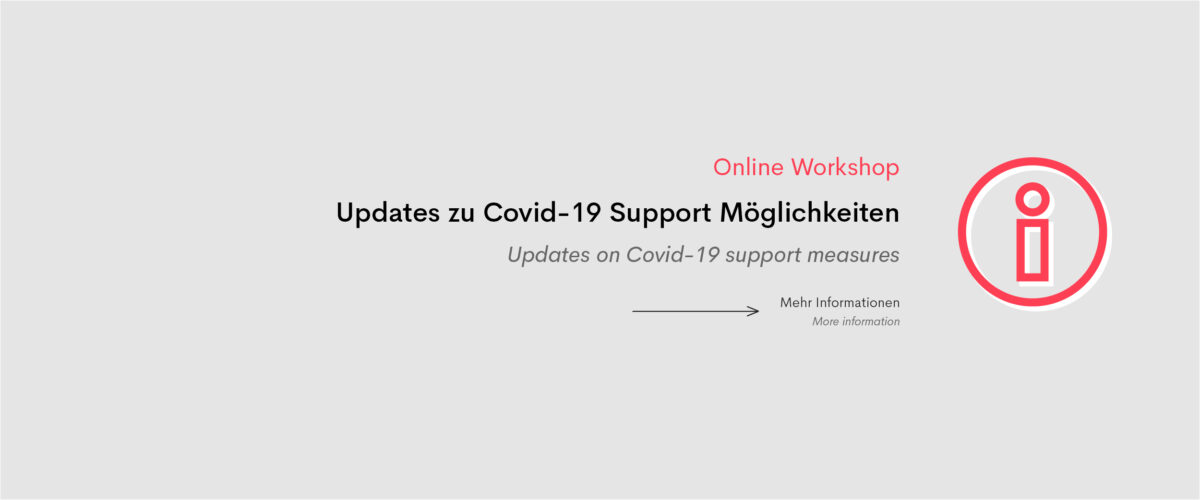 Smart Online Workshop: Updates zu Covid-19 Support Möglichkeiten